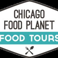 Medium square chicago food planet logo outlined