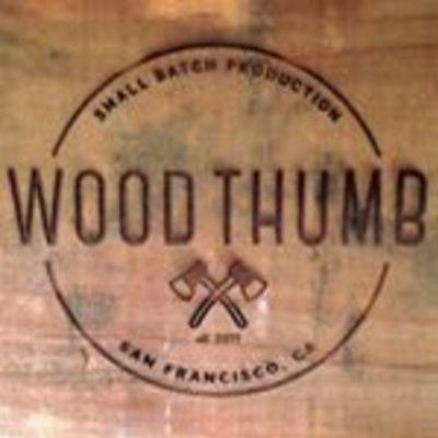 Big square wood thumb logo