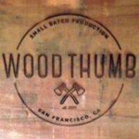 Medium square wood thumb logo